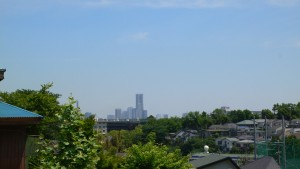 横浜ランドマークタワーも遠望できます。 要するに『山』からの眺めです(横浜市内ですが…)。