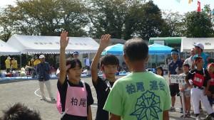 昨年優勝したので、今年の選手宣誓は柏尾町内会です。